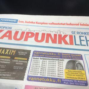 Kuopion kaupunkilehden kansi