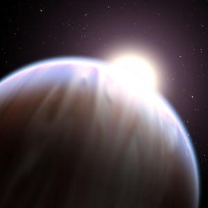 """En så kallad """"het Jupiter""""-planet."""