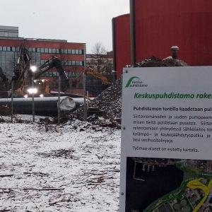 Siirtoviemärien kaivaminen Viinikanlahden puhdistamolta kohti tulevaa Sulkavuoren puhdistamoa aloitettiin joulukuussa 2019.
