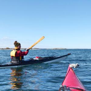 Paddling på öppet hav