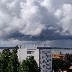 En tromb över Vasa.