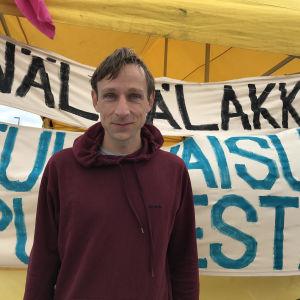 Till Sawala hungerstrejkar för klimatet