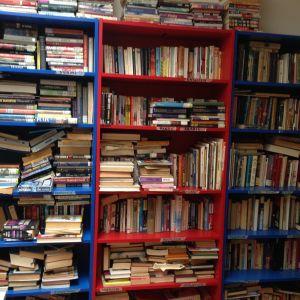 Biblioteket. Här finns böcker på många språk, men inte en enda bok på Ferhats modersmål kurdisk Kurmanci