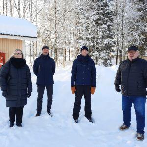 Milla Kallioinen, Sören Öhberg, Anders Sandlin och Lars Björklund har alla varit med och utarbetat planen för Jakobstads rekreationsområden.