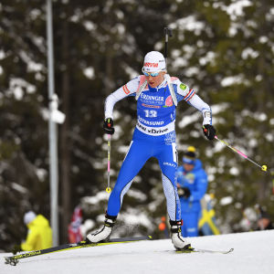 Kaisa Mäkäräinen under tisdagens tävling.