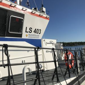 Vallgrunds sjöbevakares nya båt som togs i bruk vid årsskiftet 2020-2021.
