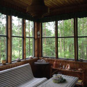 Spökhusets veranda