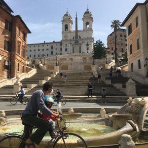 Spanska trappan i Rom 17.5.2020