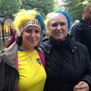 Louise Allard och Johanna Jarllås i Kungsträdgården