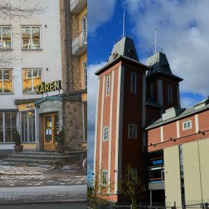 Bildcollage med Kåren i Åbo och Havtornen i Vasa.
