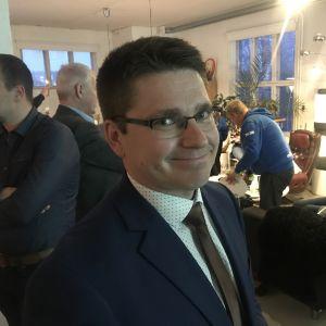 Mikko Ollikainen på valvaka riksdagvalet 2019