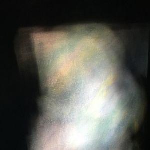 Värisommitelma, ns taidekuva, mitään esittämätön, mustaa ja värejä