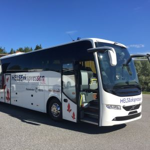 Helseexpressen buss som är en sorts ambulansbuss som används i Norge.