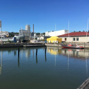 Bensinstation för båtar i Pargas.