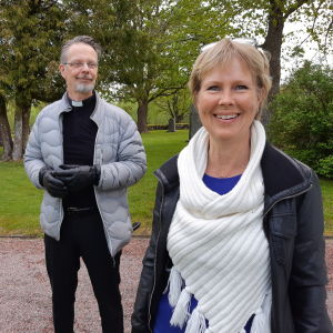Pentti Raunio och Birgitta Udd.
