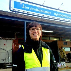 Nina Lindman, informationschef på Stormossen