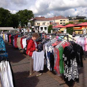 klädförsäljning på borgå torg