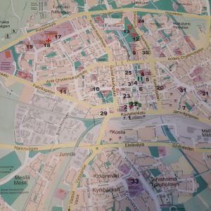 Karta över Karleby.
