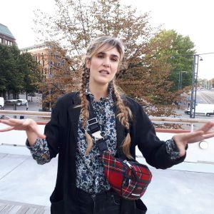 Lisa Langseth på besök i Helsingfors.
