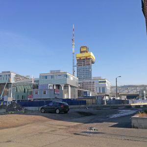Fiskehamnen i Helsingfors byggs