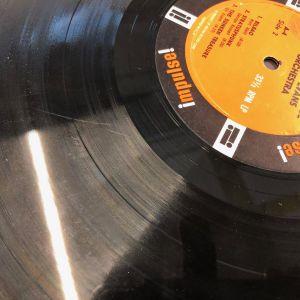 en vinylskiva med skråma