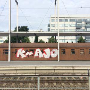 Mannerheimin töhritty salonkivaunu Mikkelin asemalla.