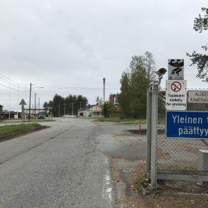 Binderholzin sahan sisäänkäynti Lieksassa.