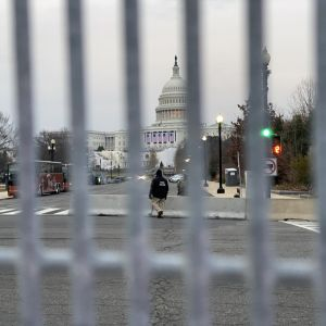 Capitolium omgärdat av staket