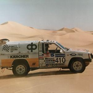 Kalevi Aho Pariisi-Dakar -rallissa vuonna 1990.