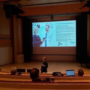 Presentation i auditorium.