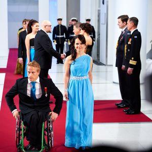 Mångfaldiga paralympiska mästaren Leo-Pekka Tähti och Sandra Ojalill