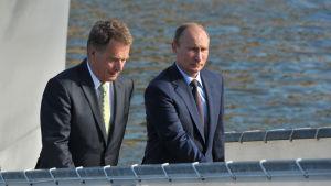 Niinistö och Putin i Nådendal juni 2013