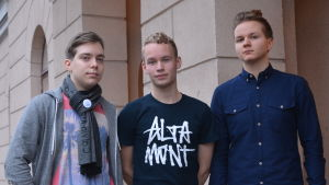 Mikael Morney, Emil Ahlroos och Matias Monola hoppas #övistoo ska göra ett fler elever vågar tala om trakasserier.
