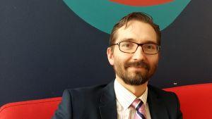 SFP:s partisekreterare Fredrik Guseff