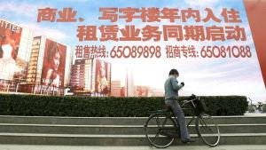Affischtavla i Beijing.