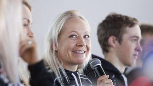 Kaisa Mäkäräinen inför världscupen i Kontiolahti.