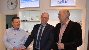 Kim Mattson, Christer Nyback och Göran Eriksson är glada över tillbyggnadsplanerna
