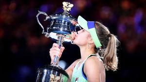 Sofia Kenin med bucklan i Australian Open.