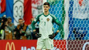 Belgiens målvakt Thibaut Courtois var på buttert humör efter semifinalförlusten.