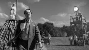 En bild från en filminspelning inom ramen för filmen Mank.
