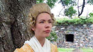 Alexandra Gustafsson som Hertiginnan Charlotta