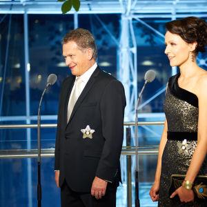 President Sauli Niinistö och hans hustru Jenni Haukio