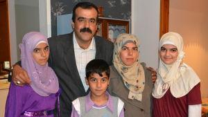 Familjen Al Sahili kom till Pargas 2014