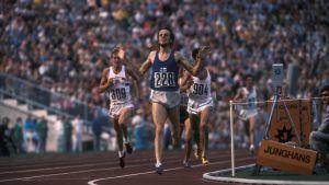 Lasse Virén vinner 5000 meter, 1972.