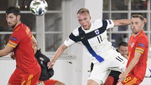 Ilmari Niskanen i landskamp mot Wales.