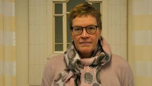 Portätt av Lena Johansson, rektor vid Axxell.
