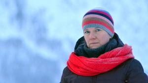 Anna Ruda på plats i Tamokdalen.