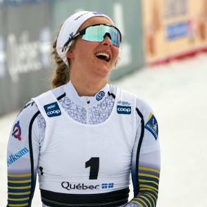 Stina Nilsson vann tre lopp av tre möjliga i Quebec.