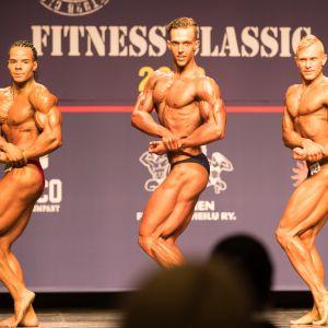 Pontus Reini (i mitten) deltog i Fitness Classic 21.4.2018.