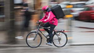 cykelbud för Foodora